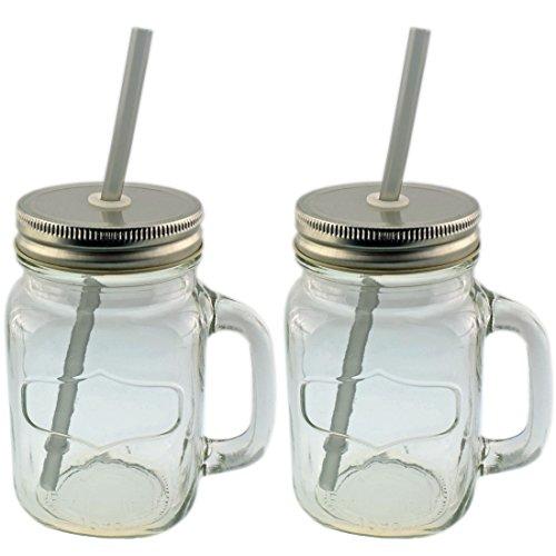Smoothie Gläser mit Trinkhalm