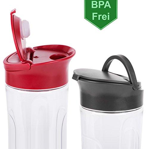 300 Watt Smoothie Maker 28.000 U/min- BPA Frei und Spülmaschinenfeste Behälter  - Standmixer, Smoothiemaker