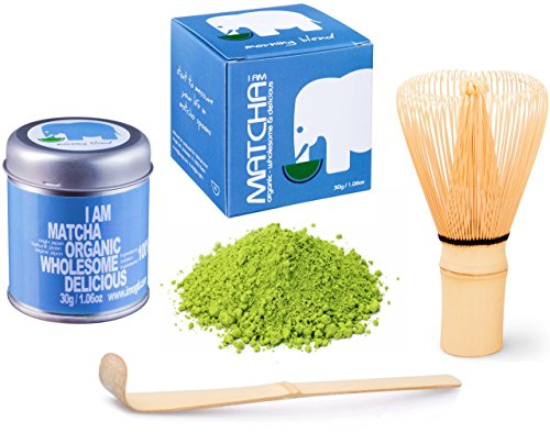 30g original BIO JAPAN Matcha Set - High Class - Gold Prämiert 2014 (30g original Bio Matcha aus Japan+ Matcha Besen + Matcha Löffel)