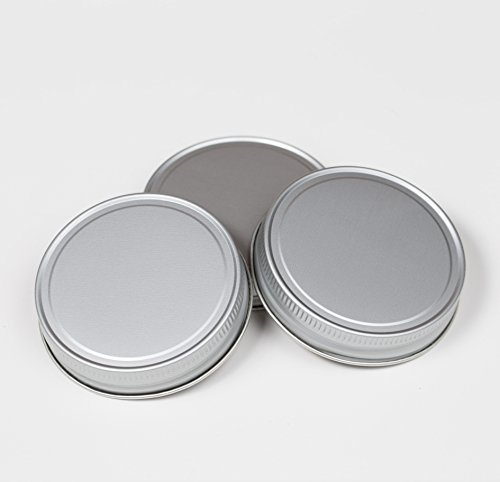 3er Set Lids Aluminiumfarben lackiert für Regular Mouth Ball Mason Jars