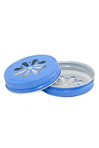 4 x Blumendeckel Blau - für Ball Mason Glas