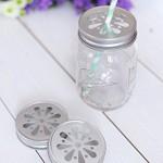 4 x Blumendeckel Silber - für Ball Mason Glas