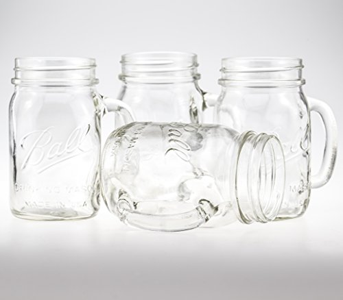 4er Set Ball Mason Drinking Jars 16oz