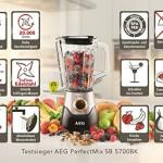 AEG SB5700BK Standmixer (700 Watt, TruFlow-Edelstahl-Messer) licorice