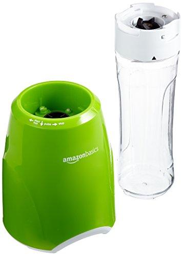 AmazonBasics Smoothie-Mixer Mix & Go, Leistung: 300 W, Grün