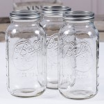 Ball Mason Jar 64oz Wide Mouth 3er/Set