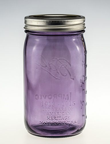 Ball Mason Jar Wide Mouth Heritage Collection 32oz Lila 3er/Set