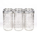 Ball Mason Quilted Crystal Jelly Jar 12oz/6er Set