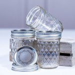 Ball Mason Quilted Crystal Jelly Jar 8oz/3er Set