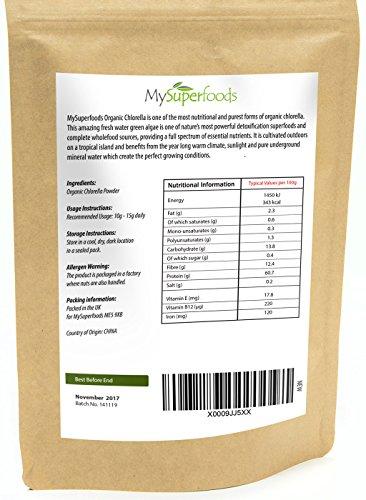 Bio Chlorella-Pulver (200g) | Höchste Qualität | Garantiert organisch durch die Soil Association | Von MySuperfoods