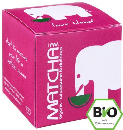 Bio Matcha Starter Set - Love Blend - Gold Prämiert 2014 - (30g original Bio Matcha + original Matcha-Bambusbesen + original Matcha Löffel)