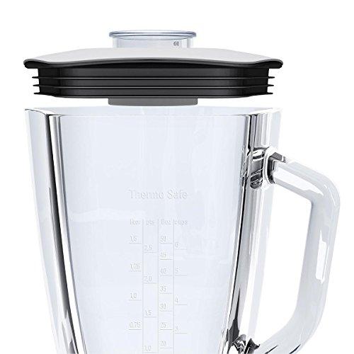 Bosch MMB64G3MDE Standmixer SilentMixx (800 W, ThermoSafe Glas, Smoothie-Filter, Messer) Edelstahl gebürstet