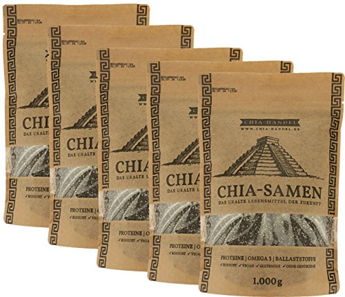 Chia Samen - Hochwertige Qualität (5x 1kg)