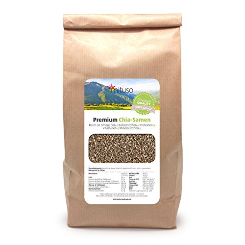 Chia-Samen Premium, 1er Pack (1 x 1 kg)