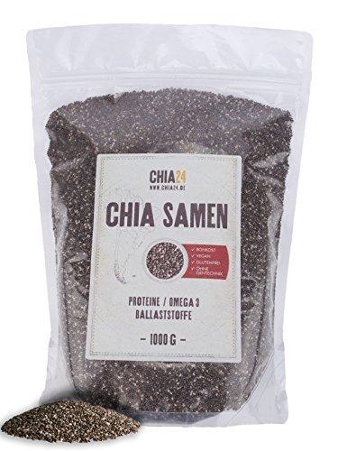 Chia24 Chia Samen, 1er Pack (1 x 1 kg)