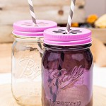 Daisy Lid Pink für Regular Mouth Ball Mason Jars/ 3er Set