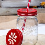 Daisy Lid Rot für Regular Mouth Ball Mason Jars