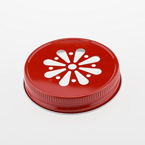 Daisy Lid Rot für Regular Mouth Ball Mason Jars