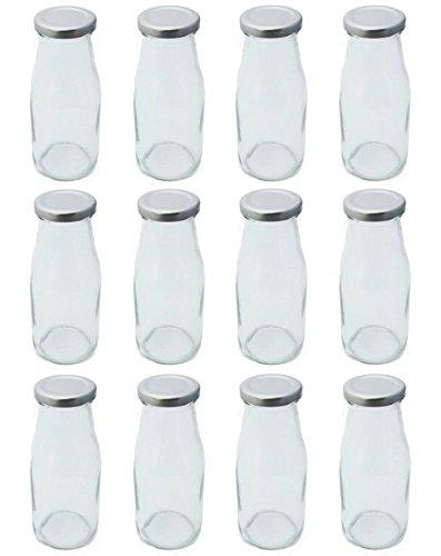 Einmachglas Glasflasche Saftflasche mit Schraubverschluss 300 ml 12 Stück