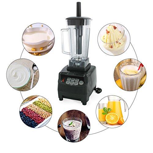 Incutex Profi Smoothie Maker Multimixer Ice Crusher mit Edelstahlmesser, 2 Liter Fassungsvermögen, 26000 U/min 1800 Watt
