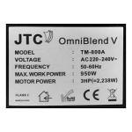 JTC OmniBlend V - Special Edition - 5 Jahre Garantie - versandkostenfrei - 1,5 Liter BPA-frei (schwarz)