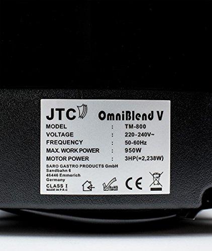 JTC Omniblend TM800V | Hochleistungsmixer | 2,0 Liter | Grün