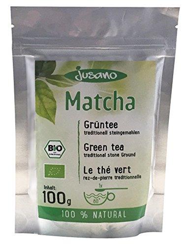 Jusano Matcha Tee Bio, grün, 1er Pack (1 x 100 g)