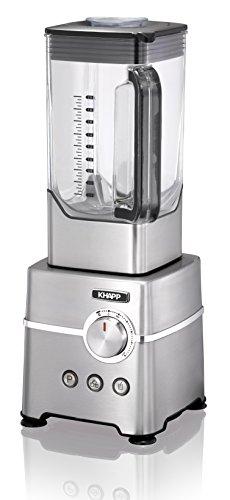 KHAPP Edelstahl Power-Blender Standmixer im edlen Retro-Desing, 2000 Watt bei 2,72 PS