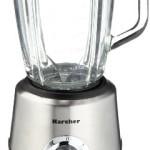Karcher HM555 Standmixer (inkl. Mixbehälter aus Glas, 2 Geschwindigkeitsstufen, moderne Edelstahloptik)