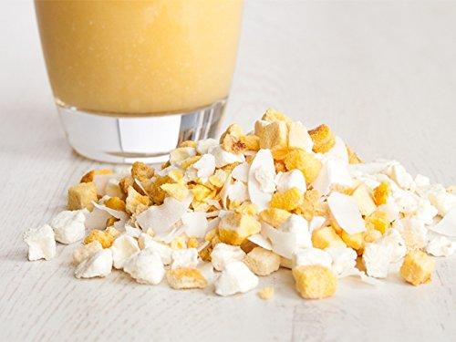 """""""Karibik"""" - Smoothie-Mischung - 100g gefriergetrocknete Ananas, Mangos - mit Kokos Chips"""