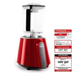 Klarstein Herakles Red Touch Prof. Power Standmixer Smoothie Mixer Küchenmixer mit Touchpad Bedienung (1680W / 2PS, BPA frei, 6 Automatik-Programme, 2 Liter Mixer, 10 Geschwindigkeiten, 32.000 U pro Min, HCS Edelstahl Klingen) rot