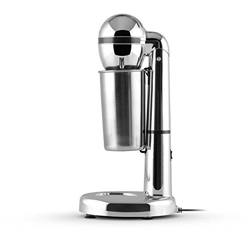 Klarstein van Damme Drink-Mixer Getränkemixer (100 Watt, 22.000 U/min., 450 ml Edelstahl-Mixbecher) silber