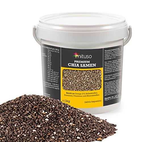 Mituso Premium Chia Samen 1000g im praktischen Eimer