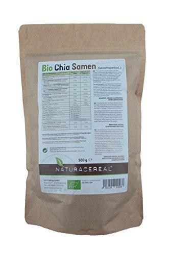 Naturacereal Bio Chia Samen , 1er Pack (1 x 0.5 kg)
