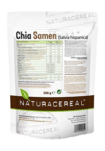 Naturacereal Chia Samen, 1er Pack (1 x 500 g)