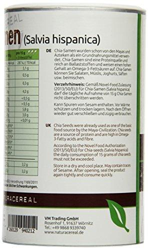 Naturacereal Chia Samen Dose, 1er Pack (1 x 0.45 kg)
