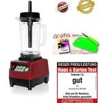 Omniblend V Mixer Standmixer Blender Smoothie Maker 2 Liter, JTC TM-800 Hochleistungsmixer Behälter BPA-frei (Rot/Maron, 2 Liter)