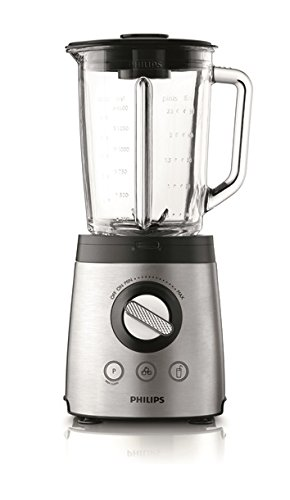 Philips HR2096/00 Standmixer (800 Watt, 2 Liter, ProBlend 6, Ice-Crush-Funktion) silber