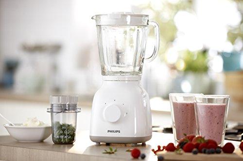 Philips HR2105/00 Standmixer 1,5 L Glasbehälter, 400 W, ProBlend 4 Technologie, weiß