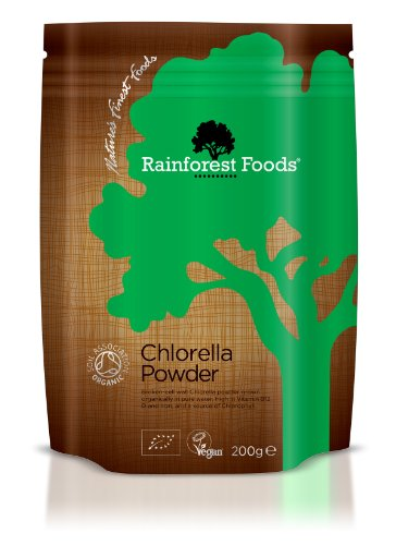 Rainforest Foods Organisches Chlorella-Pulver (Beutel), 1er Pack (1 x 200 g) - Bio