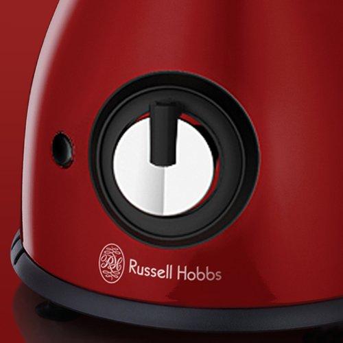 Russell Hobbs Essentials Standmixer (600 Watt, 1,5L Glasbehälter, 2 Geschwindigkeitsstufen), Schwarz, Rot, Transparent, 17956-56