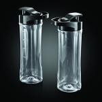 Russell Hobbs 22340-56 Aura Mix & Go Pro Mix / Smoothie Maker (300 Watt), inklusive 2 Trinkflaschen und Gewürzmühle, schwarz-weiß