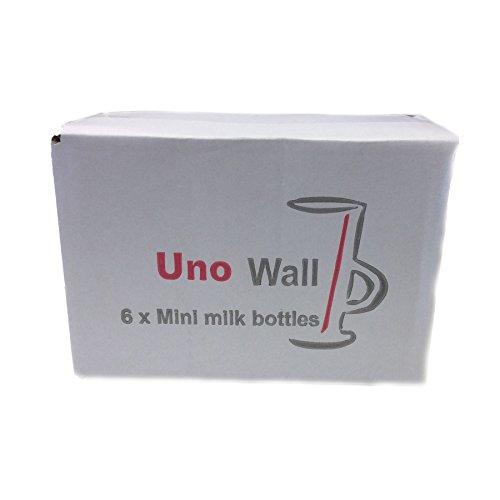 Set mit 48 klassischer Mini Glas Milchflaschen - fetzigen, retro design - ideal für Hochzeiten, BBQ, Parties. 200 ml