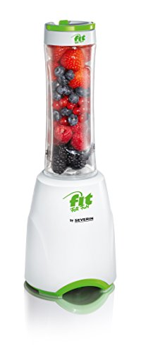 Severin Fit for Fun SM 3735 Standmixer Smoothie Mix und Go, 600 ml, weiß / grün