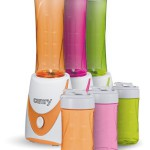Smoothie-Maker 2 GO inkl 2 Trinkbecher(0,3 +0,5l) Mini-Blender Icecrusher Standmixer Mixer Entsafter, Grün, Orange, Pink, 250 watt
