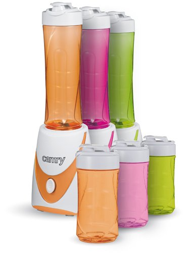 Smoothie-Maker 2 GO inkl 2 Trinkbecher(0,3 +0,5l) Mini-Blender Icecrusher Standmixer Mixer Entsafter, Grün, Orange, Pink, 250 watt