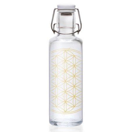 "Soulbottle ""Flower of Life"" Trinkflasche aus Glas 0,6l"