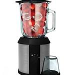 Standmixer 1.500 Watt Glas Edelstahl Hochleistungs Standmixer Mixer Zerkleinerer Smoothie Maker Blender Universalmixer 2in1 inkl. Kaffeemühle