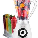 Standmixer Smoothie Maker 1,5 Liter Ice Crusher Universal Küchen Mixer Farbwahl (Weiß / Schwarz)