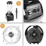 Ultratec Power Mixer 2.0 Liter / BPA-FREI / 1500 Watt / 32.000 U/min. / 6 Edelstahlmesser / inkl. Stößel & Smoothie Rezeptbuch